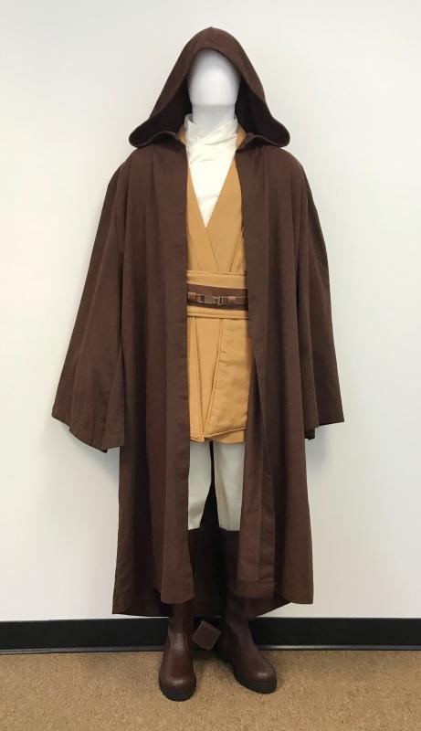 3b389d9f9a Star Wars Mace Windu Jedi Knight Costume - Body Tunic with Dark Brown Jedi  Robe - Replica Star Wars Costume