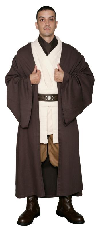 Star Wars Obi Wan Kenobi Costume - Body Tunic with Replica DARK BROWN Jedi Robe  sc 1 st  Jedi Robe America & STAR WARS COSTUMES: : Star Wars Obi Wan Kenobi Costume - Body Tunic ...